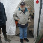 First aid tent.  Gentleman had lost his long term job and had become homeless before joining OWS DC.